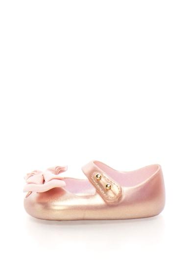 Melissa Pantofi Mary Jane auriu rose cauciucati cu funda Baieti