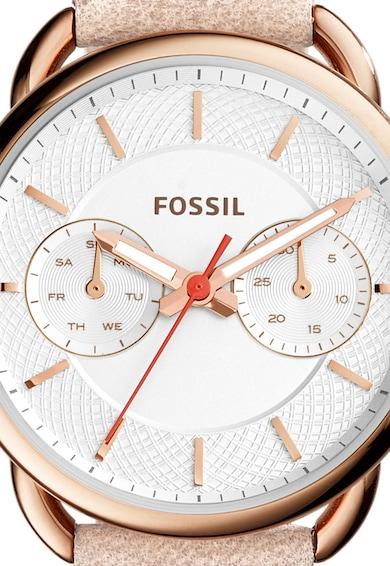 Fossil Ceas auriu rose cu alb Femei