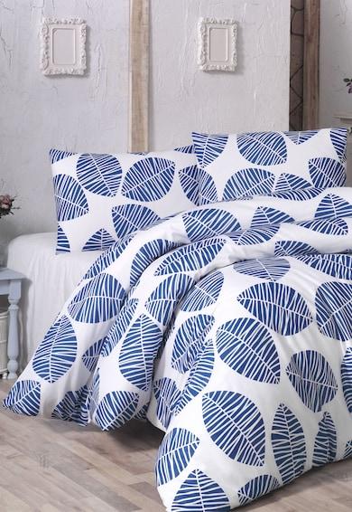 Leunelle Set de pat alb cu bleumarin si imprimeu vegetal  Femei