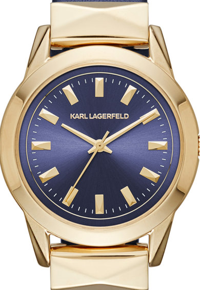 Karl Lagerfeld Ceas bleumarin cu auriu Femei
