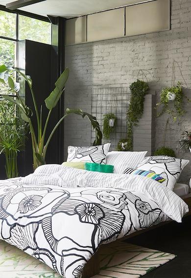 Esprit Set de pat cu model floral si dungi Lora, Negru/Alb Femei