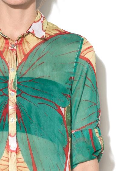 DESIGUAL Camasa multicolora transparenta Larucha Femei