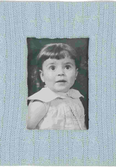 Clayre & Eef Rama foto albastru deschis cu aplicatie tricotata Femei