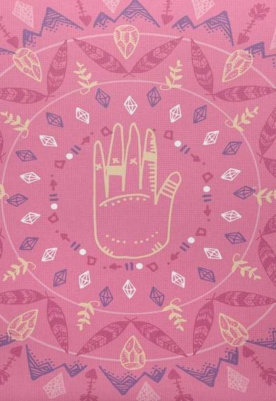 Leunelle Husa roz cu negru pentru perna decorativa Mandala Femei