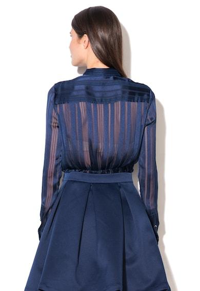GUESS JEANS Camasa bleumarin transparenta in dungi Femei