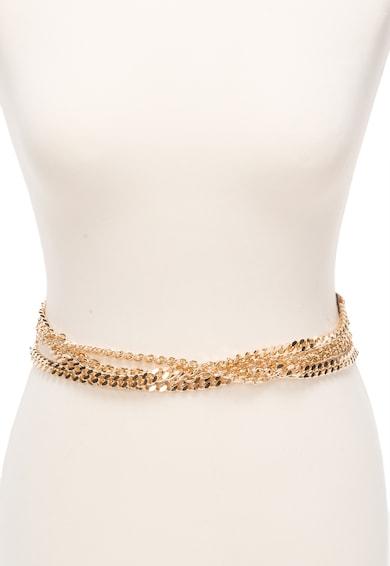 JUST CAVALLI Curea persan din piele cu lant auriu Femei