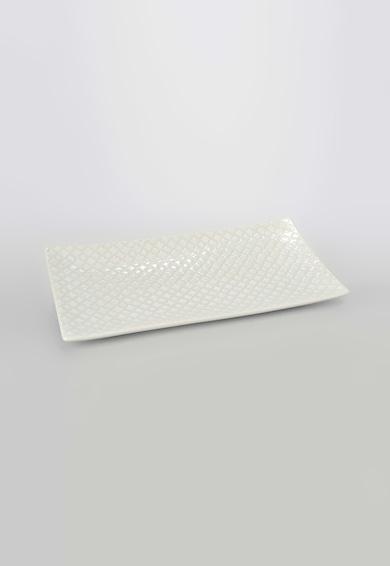AMADEUS Platou alb pentru prajituri cu model grafic Femei