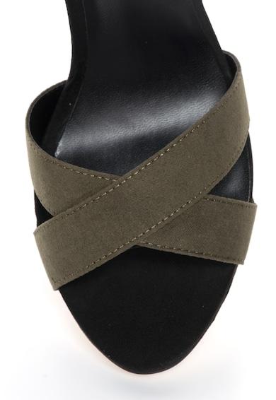 NEW LOOK Sandale verde militar cu negru cu bareta pe glezna Sia Femei