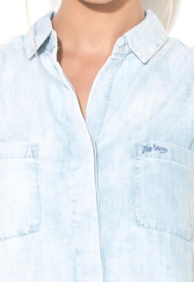 Big Star Top bleu de lyocell Dina Femei