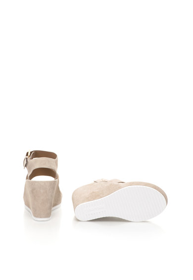 Calvin Klein Sandale grej de piele intoarsa cu platforma Hailey Femei