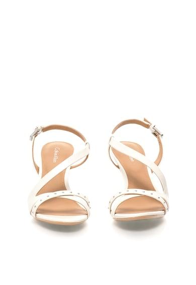Calvin Klein Sandale ecru de piele Lorelai Femei
