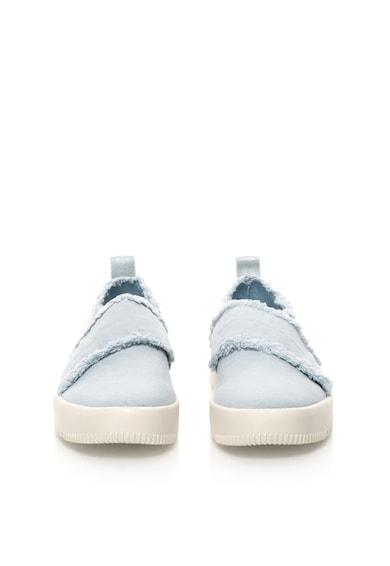 Calvin Klein Jeans Pantofi slip-on bleu de panza cu franjuri Dale Femei