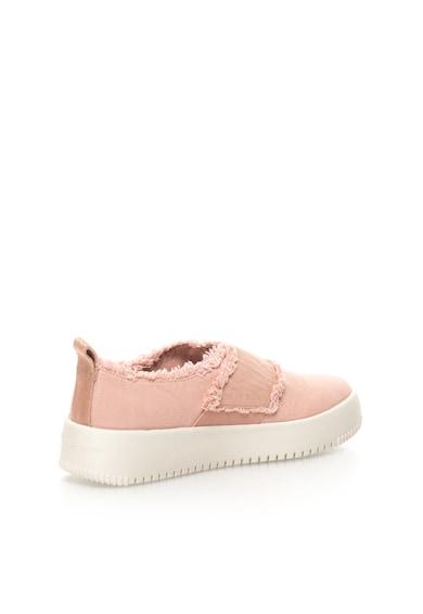 Calvin Klein Jeans Pantofi slip-on roz deschis de panza cu franjuri Dale Femei