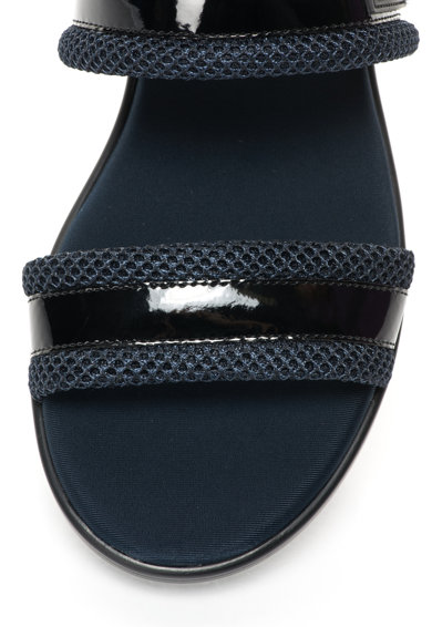 Calvin Klein Jeans Sandale slingback lacuite bleumarin cu negru Magic Femei
