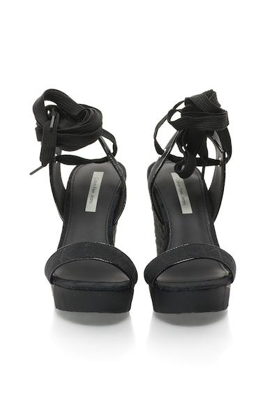 Calvin Klein Jeans Sandale wedge negre Eleanor Femei