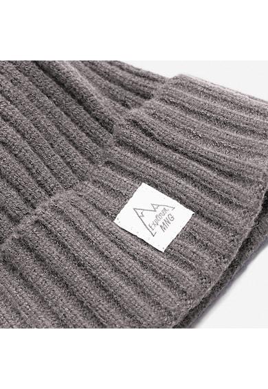 Mango Caciula tricotata striata cu logo Baieti