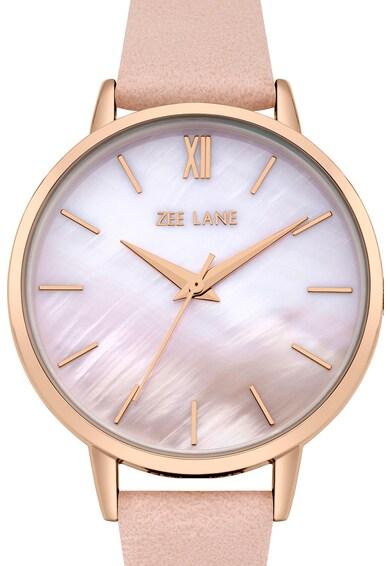 Zee Lane Ceas rotund cu display analog, Roz Femei