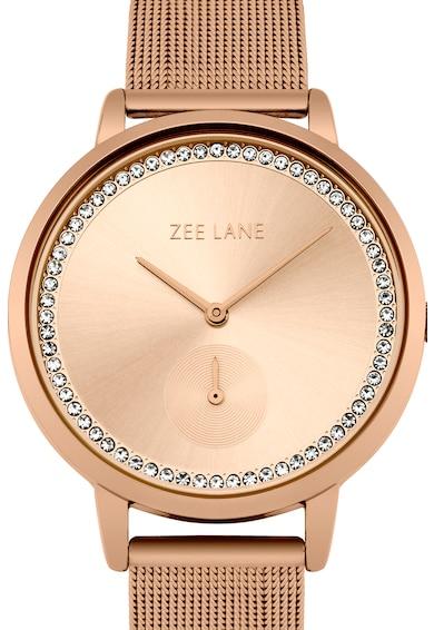 Zee Lane Collection Ceas cu bratara cu model plasa, Auriu rose Femei