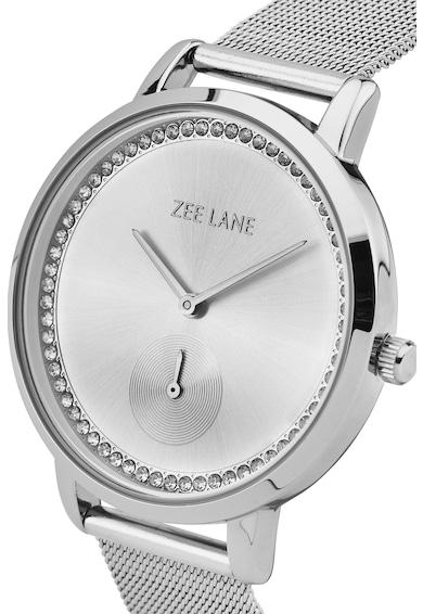 Zee Lane Collection Ceas cu bratara cu model plasa, Argintiu Femei