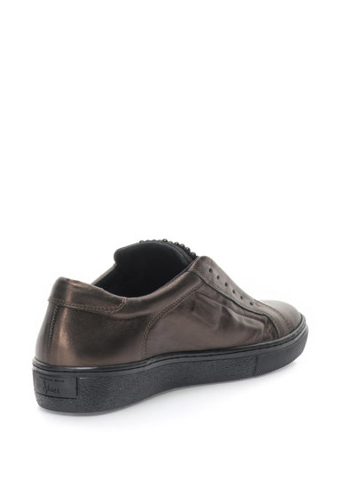 Tosca Blu Pantofi sport slip-on de piele cu aplicatii din margele Cervinia Femei