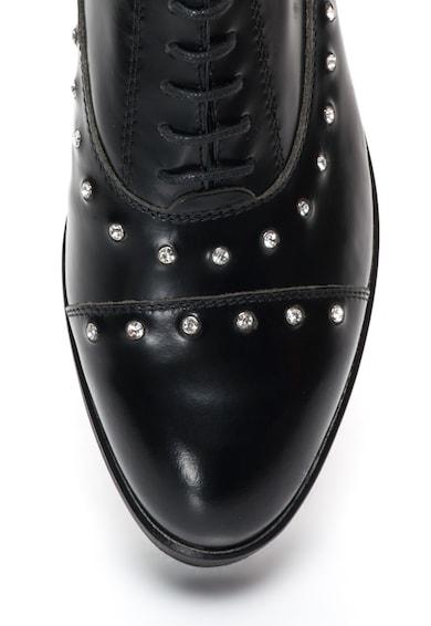 Tosca Blu Pantofi wedge de piele cu strasuri Femei