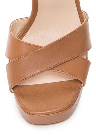 Guess Sandale de piele cu toc masiv Femei
