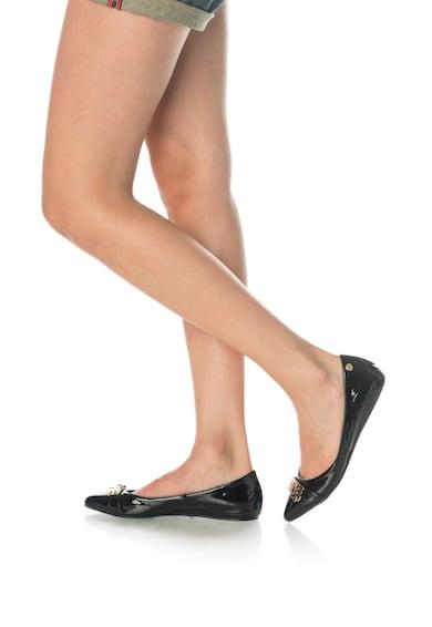 Love Moschino Balerini de piele lacuita, cu varf ascutit Femei
