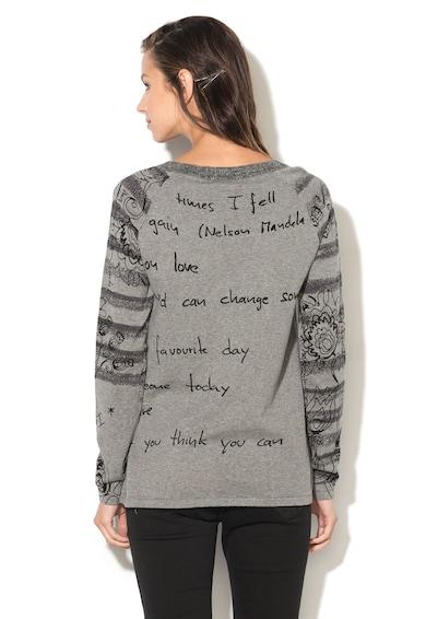 DESIGUAL Pulover cu imprimeu text Lia Femei