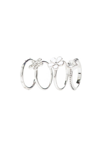 Diamond Style Set de inele Daisy Stacking Femei