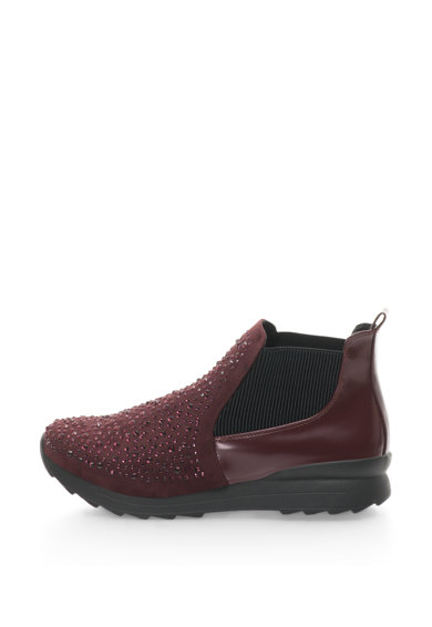 Francesco Milano Pantofi sport mid-high fara inchidere cu insertii elastice striate si decoratiuni Femei