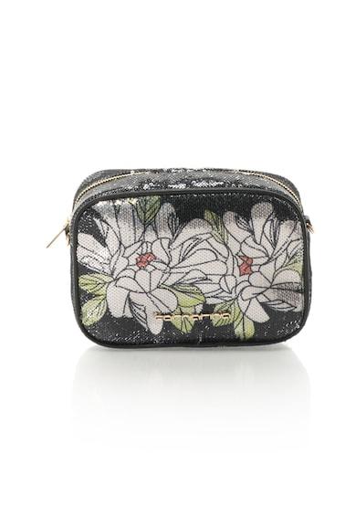 Fornarina Geanta crossbody cu paiete si imprimeu floral Clio Femei