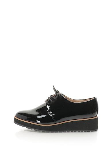 Aldo Pantofi derby de piele sintetica cu talpa wedge Lovirede Femei