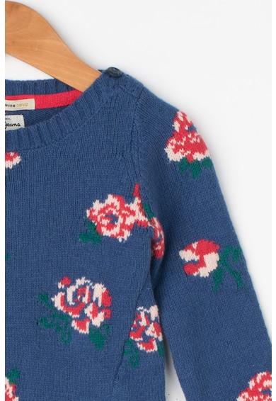 Pepe Jeans London Pulover cu model floral si garnituri striate Paula Fete