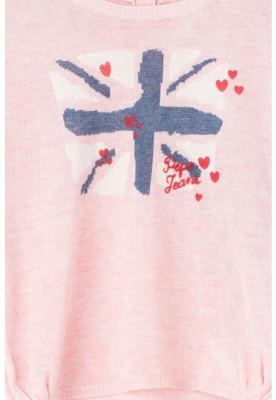 Pepe Jeans London Pulover tricotat fin cu imprimeu logo Amelia Fete