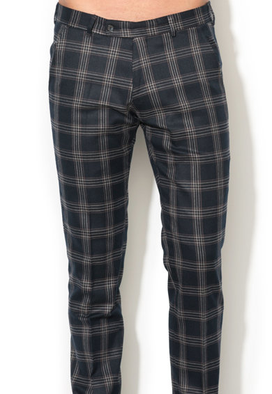Zee Lane Collection Pantaloni slim fit eleganti cu model in carouri Barbati