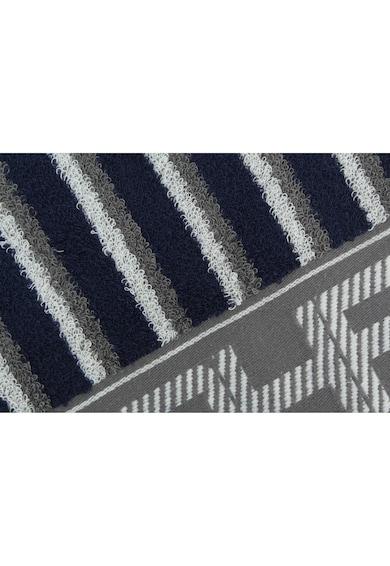 Beverly Hills Polo Club Prosop baie cu dungi,  100% bumbac, 50x100 cm, 450 g/mp, gri/albastru inchis Femei