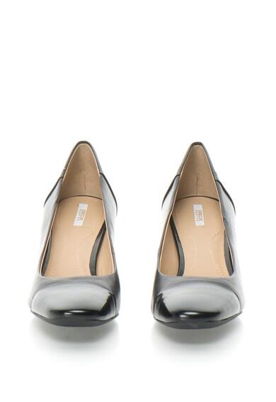 Geox Pantofi cu toc mediu si varf patrat Symphony Femei