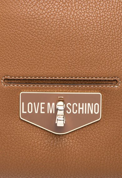 Love Moschino Geanta shopper din piele sintetica cu buzunar frontal cu clapa Femei