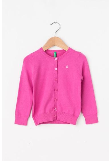 United Colors of Benetton Cardigan din tricot fin cu logo din strasuri Fete