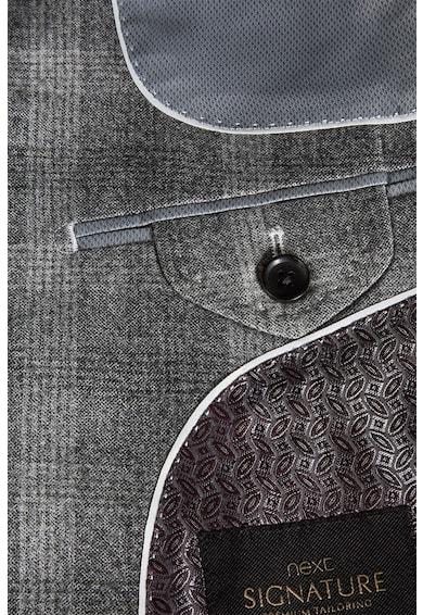 NEXT Sacou elegant slim fit de lana in carouri Signature Barbati