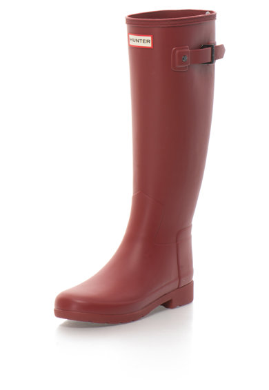 Hunter Cizme de ploaie inalte pana la genunchi cu bareta decorativa Scarlett Femei