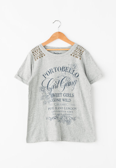 Pepe Jeans London Tricou din bumbac cu tinte Cordelia Fete