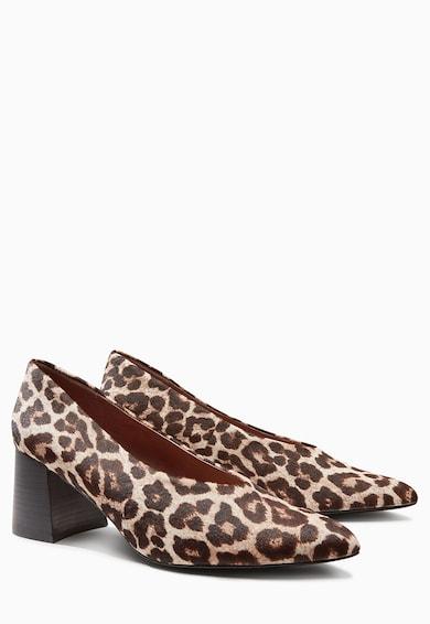 NEXT Pantofi cu animal print  si toc masiv Femei