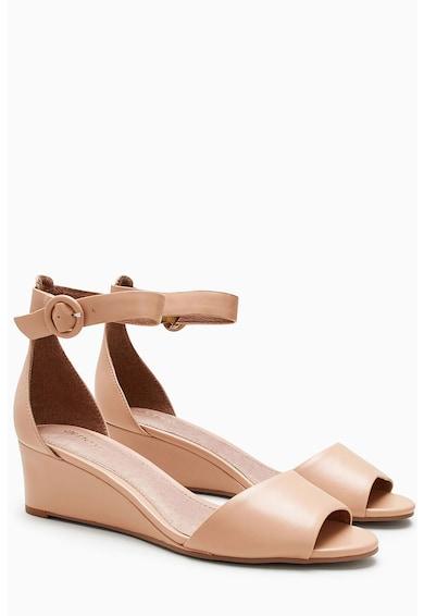 NEXT Sandale din piele sintetica cu talpa wedge joasa Femei