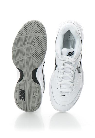 Nike Pantofi sport cu insertii de piele si plasa, pentru tenis, Nike Court Lite Barbati