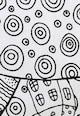 Leunelle Cearsaf de pat alb cu elastic si imprimeu negru cu desene Femei