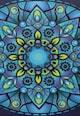 Leunelle Husa bleumarin cu albastru pentru perna decorativa Mandala  Femei
