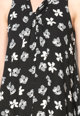 Zee Lane Collection Rochie neagra cu imprimeu floral si guler tip esarfa Femei