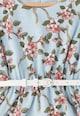 Yumi Rochie evazata cu imprimeu floral, talie elastica si curea detasabila Fete